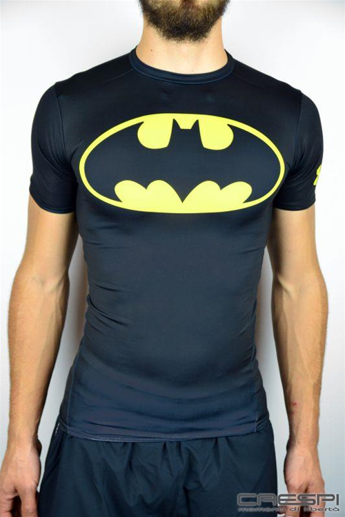 T-SHIRT COMPRESSION BATMAN  SUPER EROE
