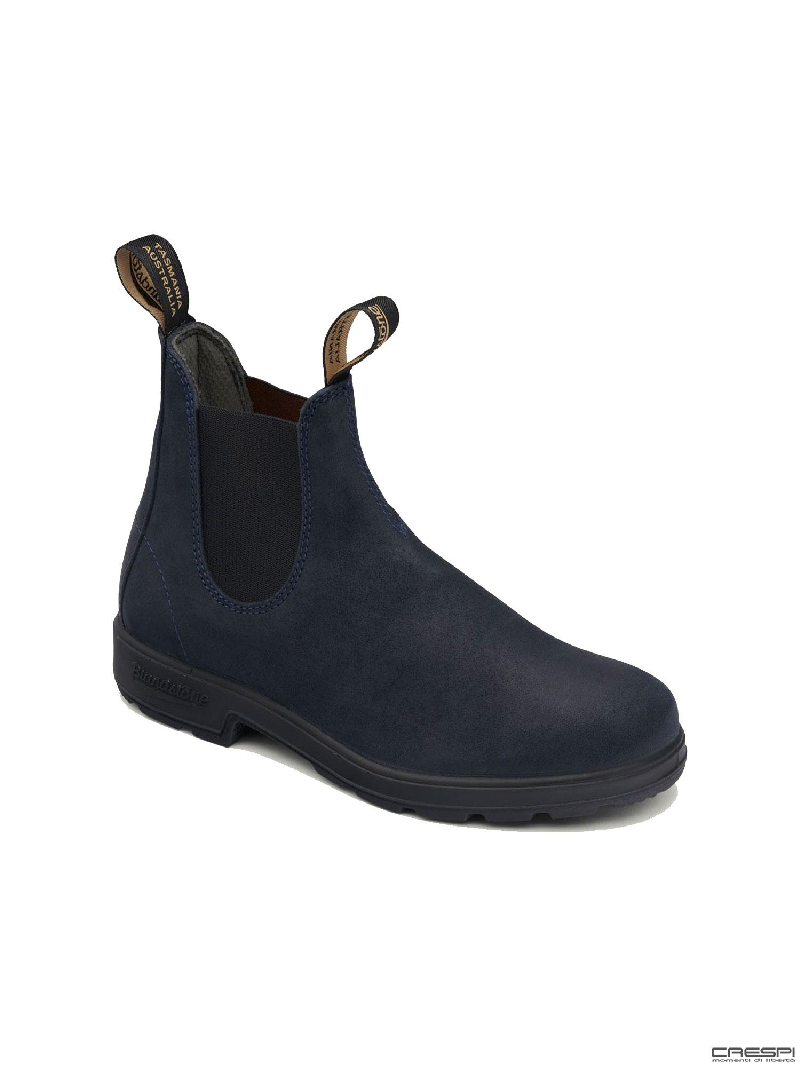 BOOT WAXED SUEDE NAVY ELASTICO BLACK