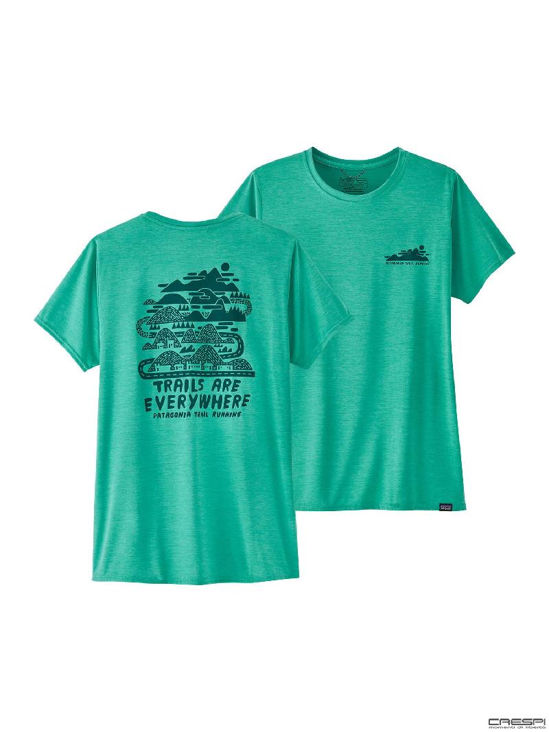 T-shirt capilene logo donna Patagonia