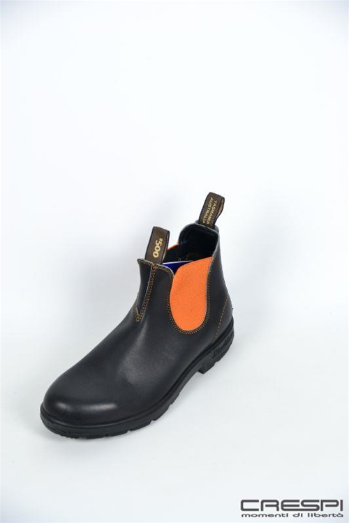 BOOT PELLE MARRONE ELASTICO ORANGE