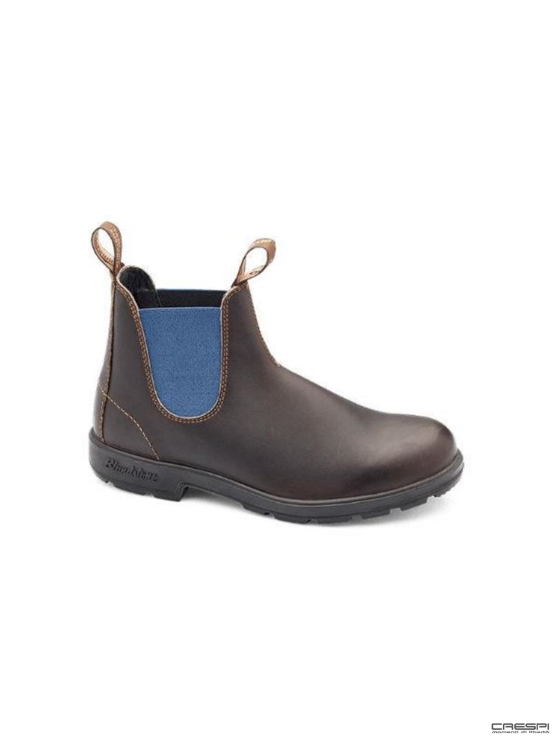 BOOT PELLE BROWN ELASTICO BLU