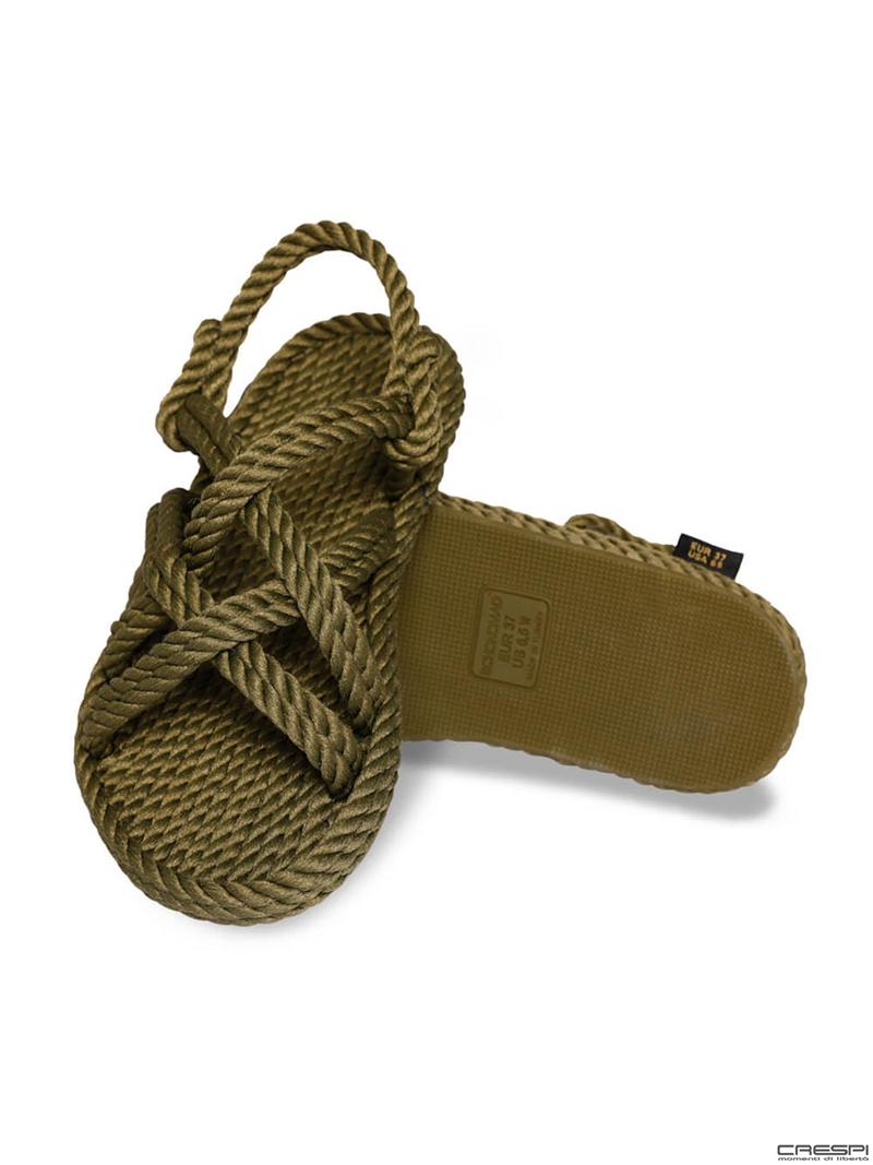 Sandali corda intrecciata Bodrum Bohonomad Oliva
