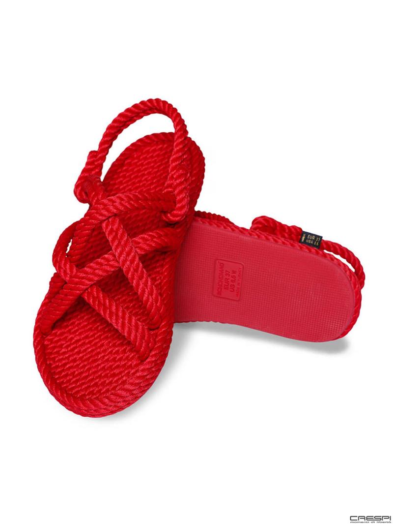 Sandali corda intrecciata Bodrum Bohonomad Rosso