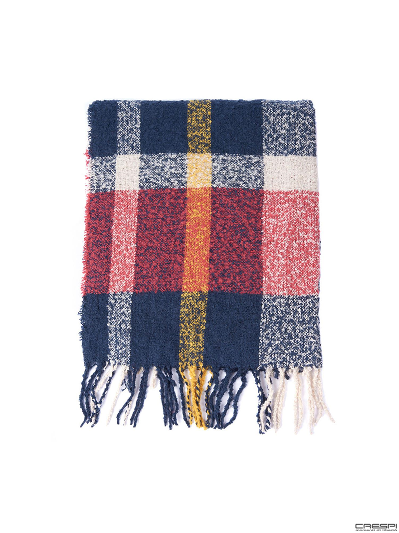 RIDLEY BOUCLE CHECK SCARF