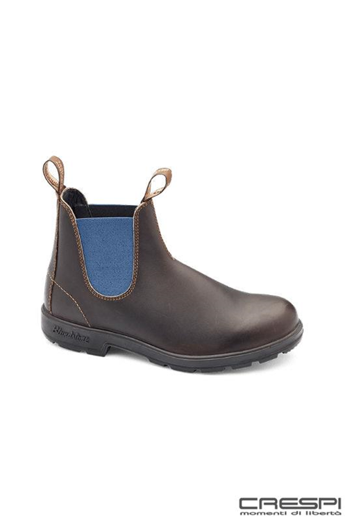 BOOT BROWN ELASTIC BLU
