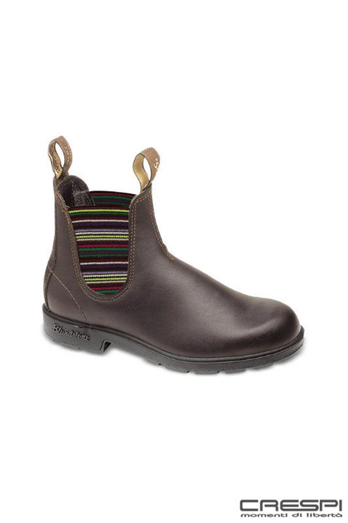 BOOT PELLE BROWN ELASTICO MULTICOLOR