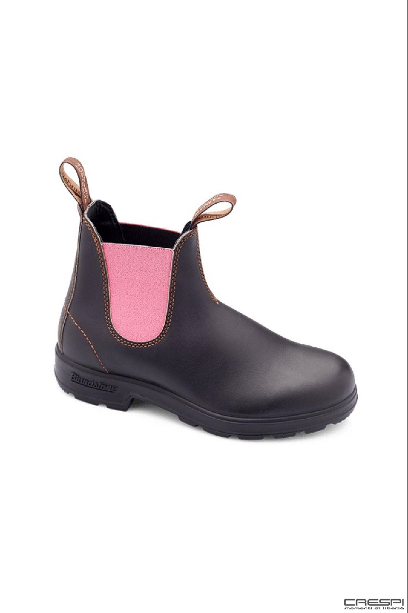 BOOT STOUT BROWN ELASTICO PINK