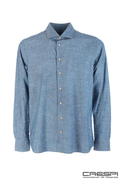 CAMICIA COLLO FRANCESE CHAMBRAY DENIM
